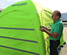 High visibility opblaasbare tent | Infrabel