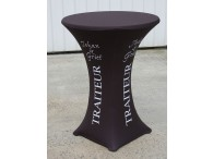 housse stretch table reception pied central impression 13