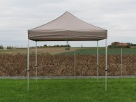 folding tent 2,5x2,5m aluminium frame polyester roof sand 1