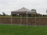 folding tent 2,5x2,5m aluminium frame polyester roof sand 3
