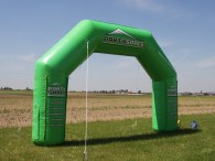 Printed finish arch Partyspace (6x4m)
