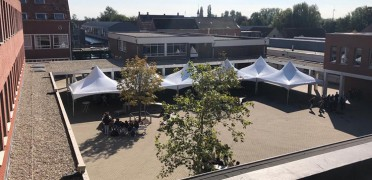 Party tents are awarded new functionalities during the pandemic