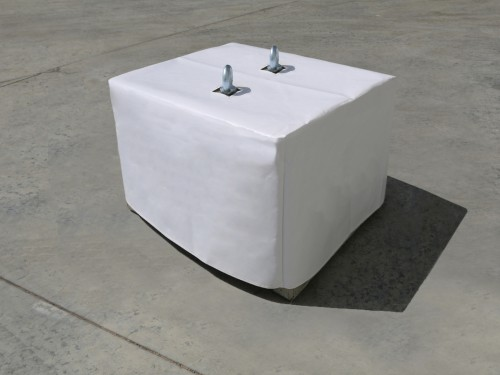 White PVC cover for concrete weight 600kg