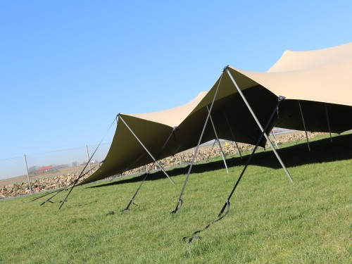 Bonga stretchtent set per m2 >100m2 - double coated