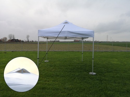 Ventilation folding tent aluminium frame and roof - 3x3m - Polyester (Smoke tent)