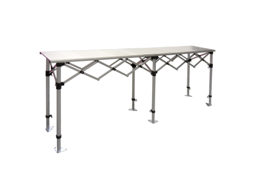 Aluminium folding table - 3 m