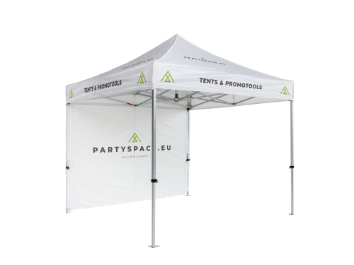 Folding tent aluminium frame and printed roof - 3x3m - Polyester