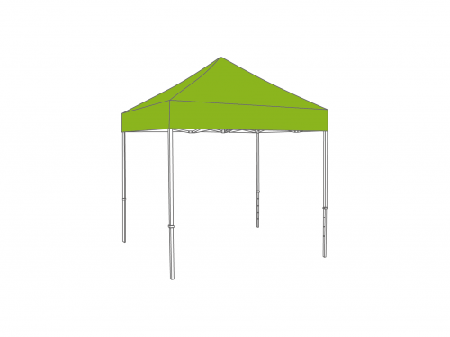 Folding tent aluminium frame and roof - 2,5x2,5m - Polyester