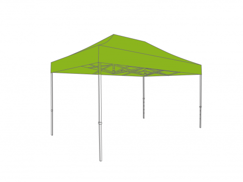 Folding tent aluminium frame and roof - 2x3m - Polyester