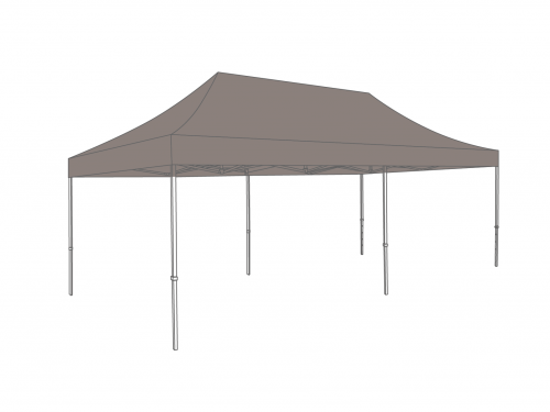 Outlet roof folding tent 3x6m - PVC light - Sand | Repairable tear