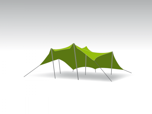 Bonga stretch tent Proflexx singlecoated (450 g/m²) set - 10x10m