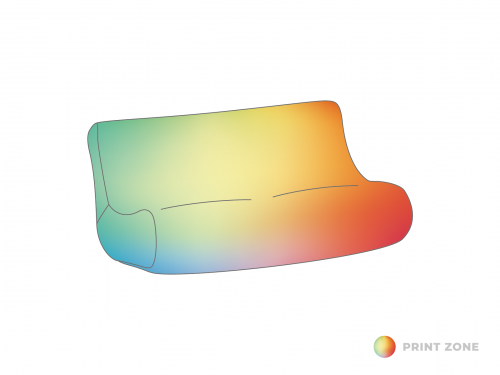 Air couch | Inflatable couch printed