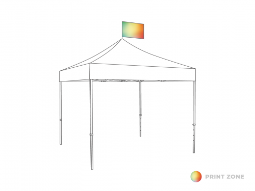 Flag set for folding tent 4m horizontally 55x75