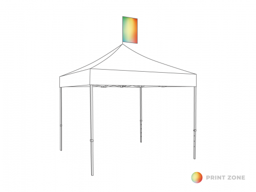 Flag set for folding tent 4m vertically 90x60cm