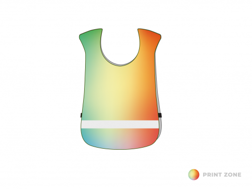Sportsbibs with reflective strip children until 7 years of age - digitally printed