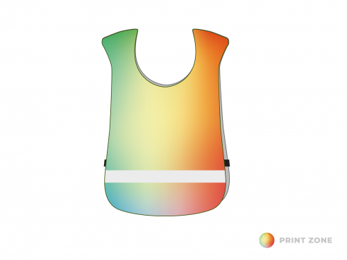 Sportsbibs with reflective strip children until 10 years of age - digitally printed