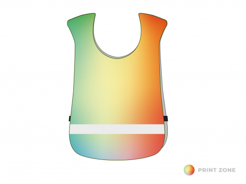 Sportsbibs with reflective strip children until 15 years of age - digitally printed
