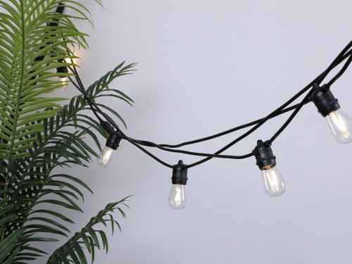 Lichtsnoer Vintage - Set 10 meter 10 LED lampen - Warm wit