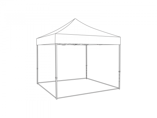 Groundframe for folding tent 4x4 m