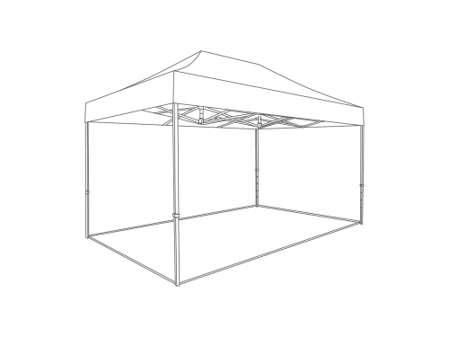 Groundframe for folding tent 4x6 m