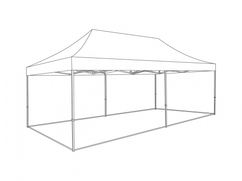 Groundframe for folding tent 4x8 m