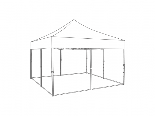 Groundframe for folding tent 5x5 m