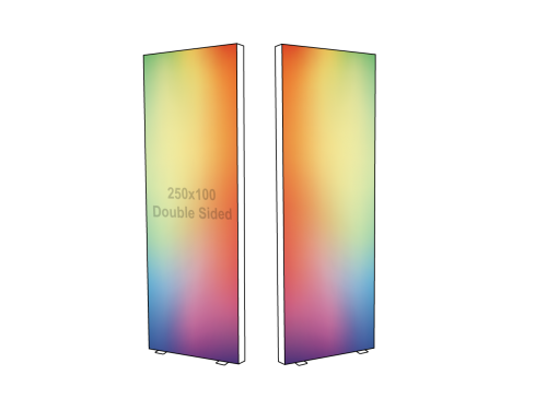 Lightbox - Double sided - 100 x 250 cm