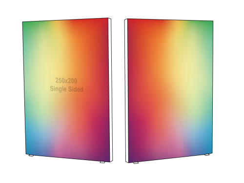 Lightbox - Double sided - 200 x 250 cm