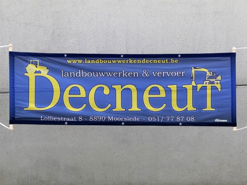 Banner per meter - Polyester - with polepockets