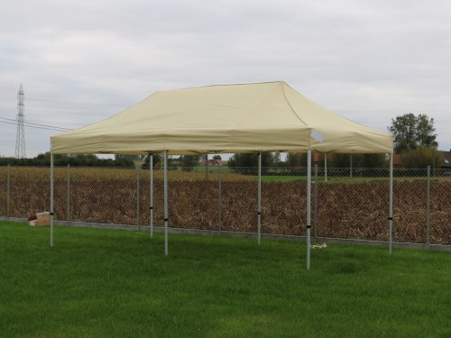 Folding tent aluminium frame and roof - 3x6m - Polyester