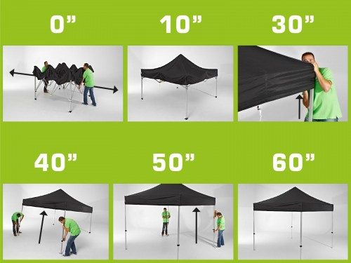 Folding tent steel frame and roof and protection cover - 3x3m - Polyester