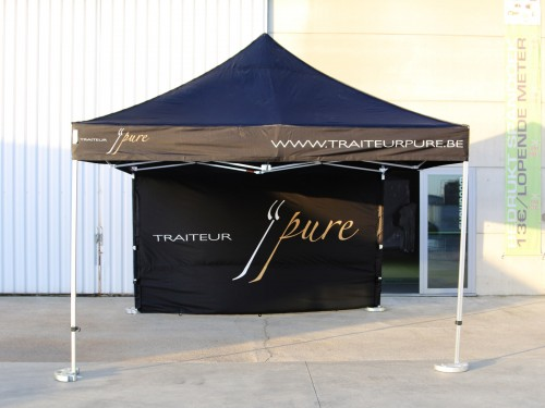 Folding tent aluminium frame and roof - 4x4m - Polyester