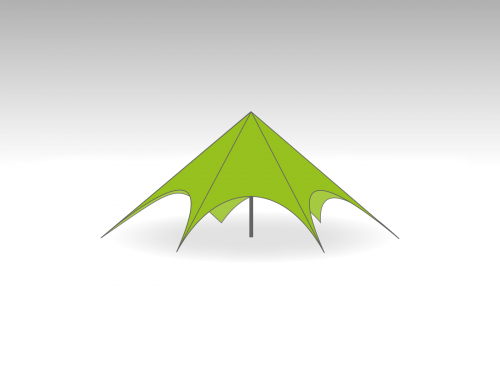 Starspace startent roof   - 12m diameter - Polyester