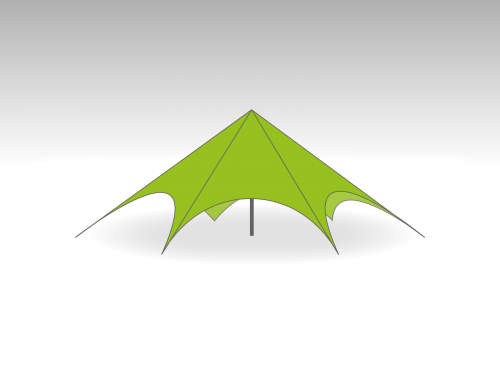 Starspace startent roof   - 14m diameter - Polyester