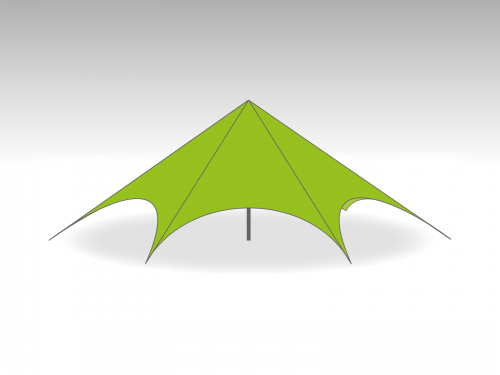 Starspace startent roof   - 16m diameter - Polyester