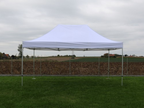 Folding tent aluminium frame and roof - 4x6m - Polyester