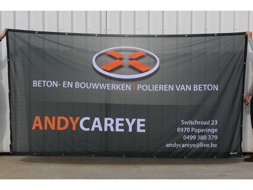 Workfence banner - Polyester MESH - perforated