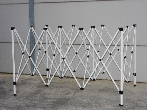 Steel frame with protection cover - 3x3m