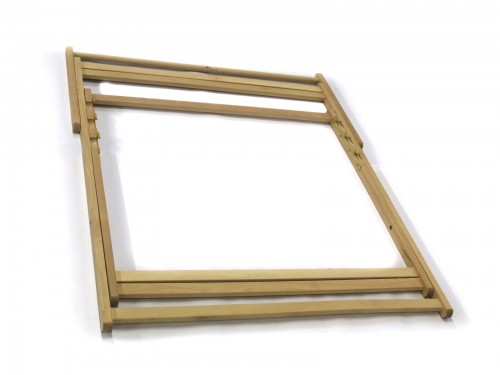 Wooden frame for duo deck chair