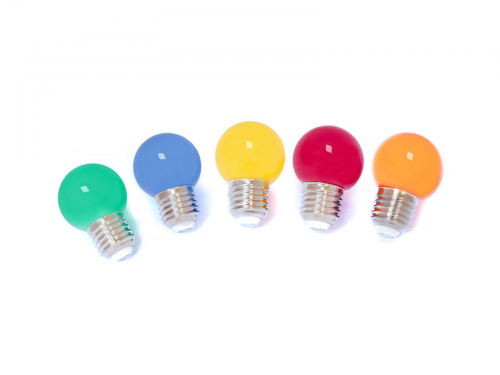 Last items | Set of 10 LED lamps for light cable - 5 colours (yellow-orange-red-green-blue)