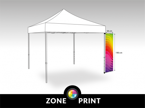 Bannerset for corner pole gazebo(1m90)