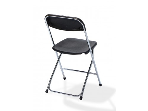 Package of 50 folding chairs - Black/Chrome