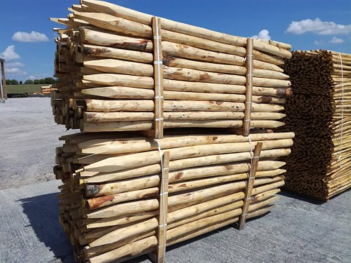 Outlet | Wooden pole 200 cm - Diameter 6-8 cm | Medium quality