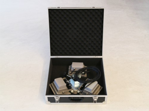 Flightcase light- and heating set and 3-LED lightset 20W