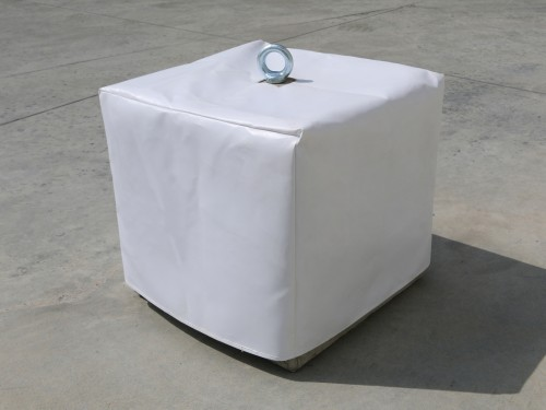 White PVC cover for concrete weight 145kg