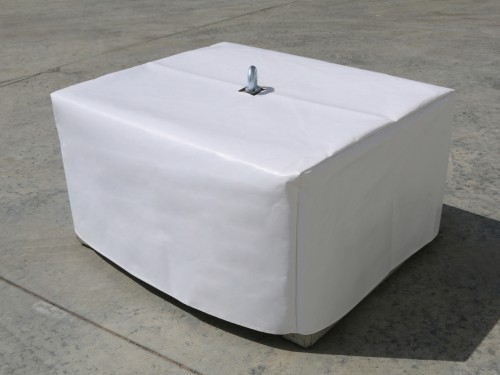 White PVC cover for concrete weight 340kg