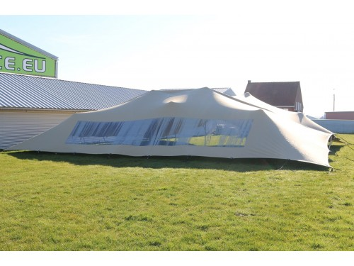 Bonga mini stretch tent with panoramic window Triflexx doublecoated (560 g/m²) set - 5x10m