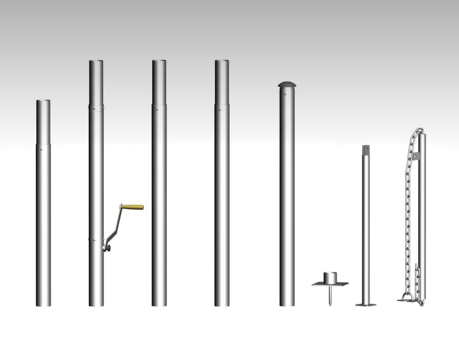 Hardwareset van een stertent