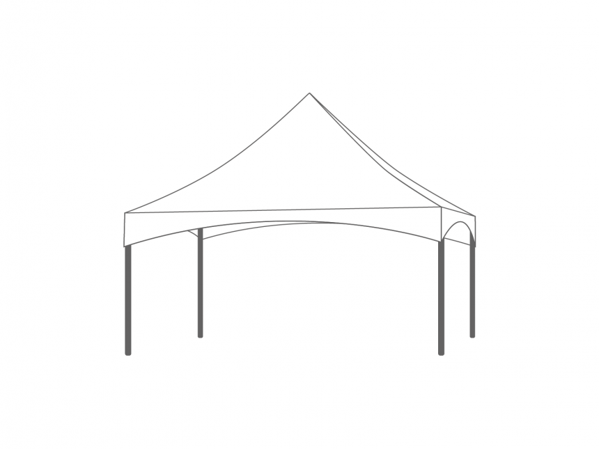 Partyspace Pagode Set PAGK55RZZ WHITE
