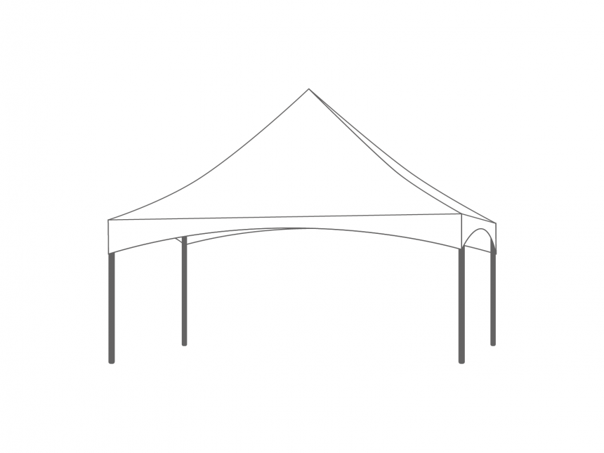 Partyspace Pagode Set PAGK66RZZ WHITE
